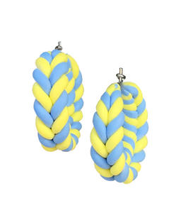 Tiny Baby Blue/Banana Braids