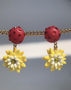 Sunburst Dangles - Crystal Cherry & Yellow