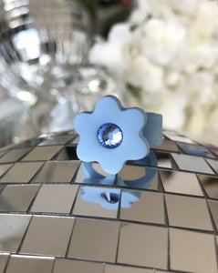 Flower Ring - Blueberry