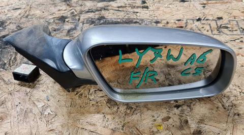 AUDI A6 C5 FRONT RIGHT SIDE WING MIRROR SILVET LY7W 4B2858532