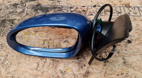 VW GOLF MK5 LEFT SIDE WING MIRROR BLUE LC5G