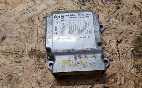 VW GOLF MK5 SRS AIR BAG CONTROL MODULE ECU 1K0909605A