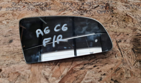 AUDI A6 C6 FRONT RIGHT SIDE MIRROR GLASS 8E0857536B