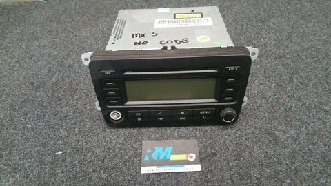 VW GOLF MK5 RADIO CD PLAYER WITOUT CODE