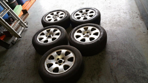 "AUDI A4 B6 15"" ALLOY WHEEL SET x5 8E0601025 & FREE TYRES 205/60/15"