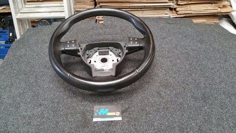 SEAT IBIZA 6L MK4 BLACK LEATHER STEERING WHEEL 6L0419091AD