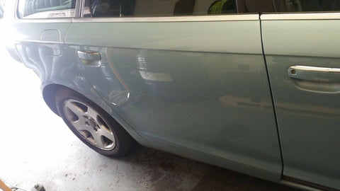 AUDI A6 C6 REAR RIGHT SIDE BARE PANEL DOOR IN BLUE LY5R