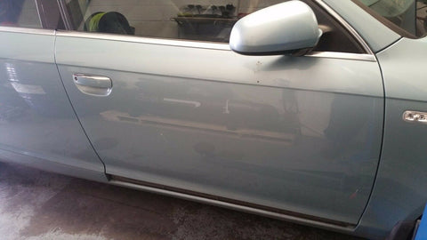 AUDI A6 C6 FRONT RIGHT SIDE BARE PANEL DOOR IN BLUE LY5R