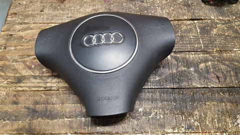 AUDI A4 B6 STEERING WHEEL SRS BLACK AIR BAG 8E0880201S