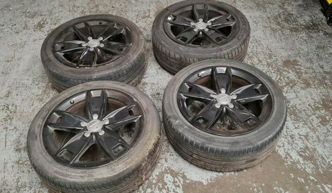 "AUDI A3 8P 17"" 5 SPOKE ALLOY WHEEL SET 8P0601025BL"