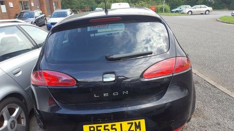 SEAT LEON 1P BARE BOOT LID TAILGATE PANEL IN BLACK LC9Z
