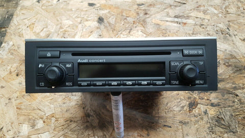 AUDI A4 B7 CONCERT RADIO CD PLAYER WITH CODE 8E0035186D