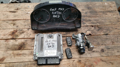 VW GOLF MK5 ENGINE ECU SET 03G906016FM