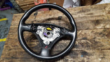 AUDI A4 B6 BLACK LEATHER STEERING WHEEL 8E0419091BA