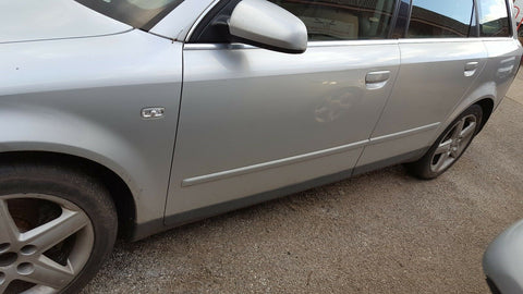AUDI A4 B6 FRONT LEFT SIDE BARE PANEL DOOR IN SILVER LY7W