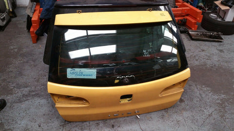 SEAT IBIZA MK4 REAR BARE PANEL BOOT LID TAILGATE PANEL YELLOW LS1A