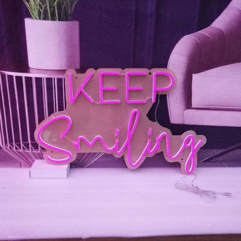 KEEP Smiling Neon Signs
