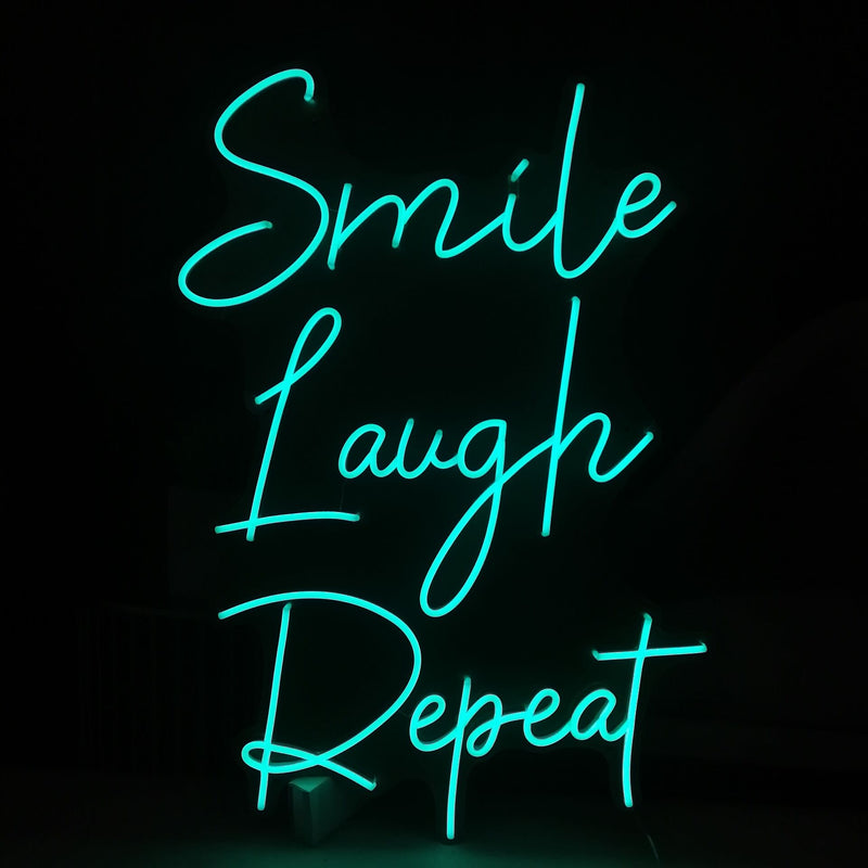 Smile Laugh Repeat Neon Signs