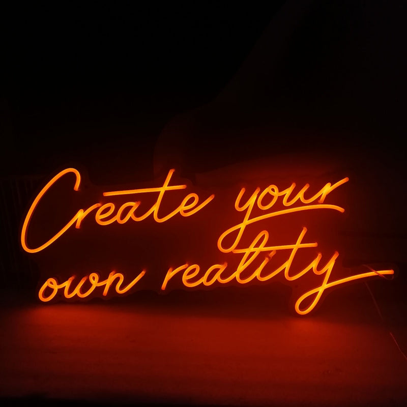 Create your own reality neon signs
