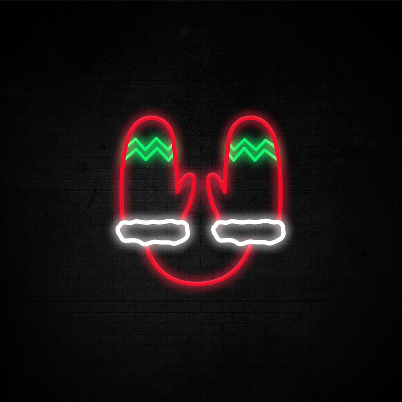 Christmas Gloves Neon Sign
