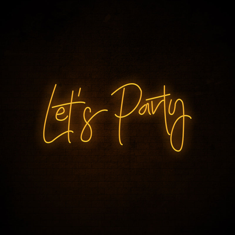 Let's Party Neon Signs