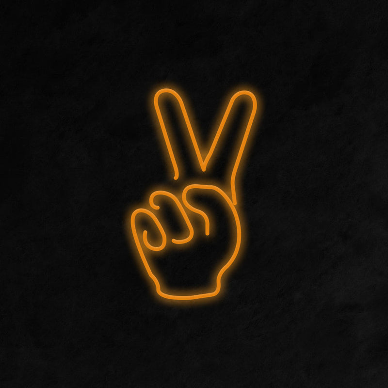 Peace Fingers Neon Signs