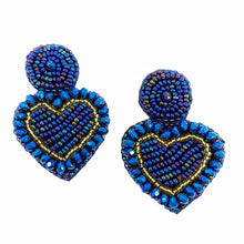 Load image into Gallery viewer, Touch my heart Studs Blue