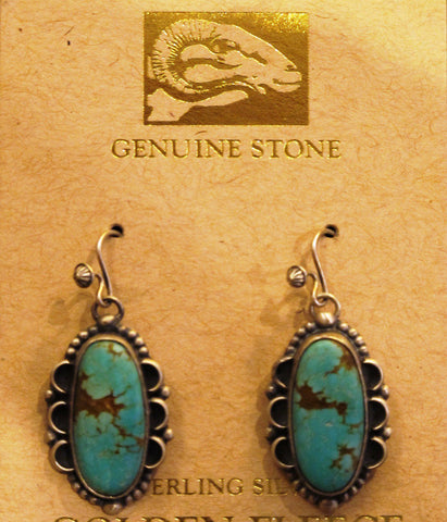 #8 Turquoise Earrings by Martha Willeto