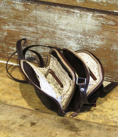 Tooled Leather Cross-body Bag