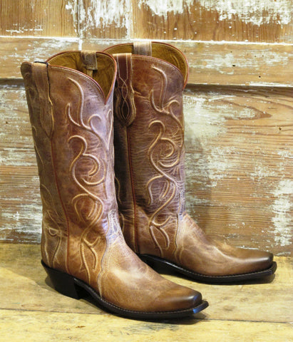 Women's Tan Corded Boot by Lucchese