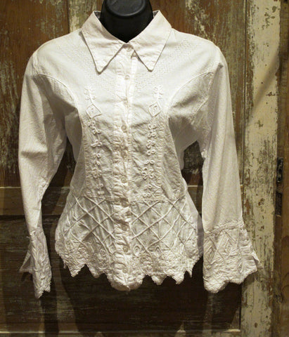 Women's Peruvian Embroidered Blouse