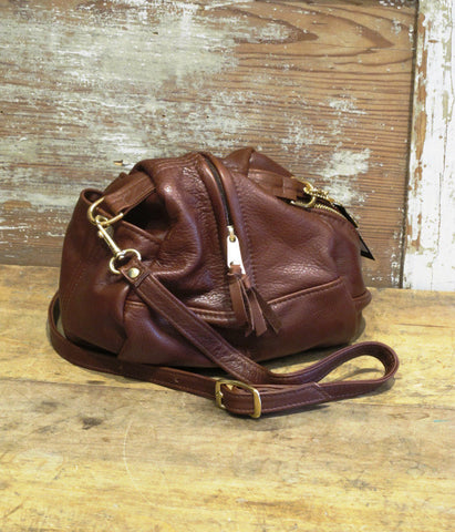 Droplet Purse in Burgundy Leather