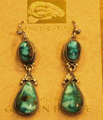 Kingman Turquoise Earrings/Martha Willeto