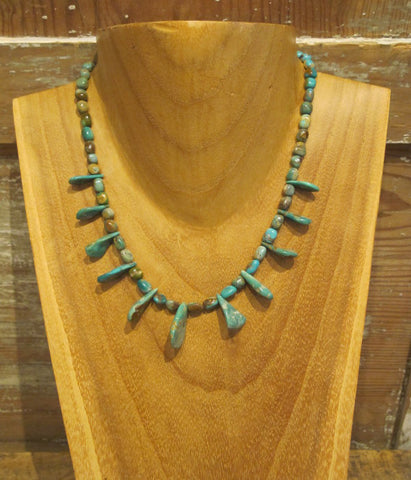 Petal Turquoise Native American Necklace