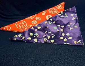 Orange and Purple Batik Bandana Set