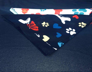 Dog Print Bandana Set