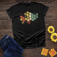 Load image into Gallery viewer, Honeycomb Rainbow Tee