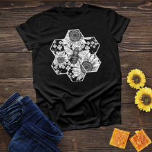 Load image into Gallery viewer, Bee Hive Flower Tee