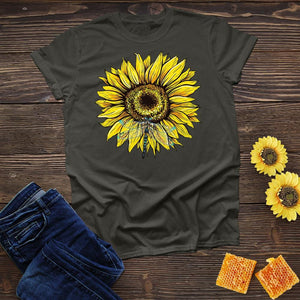 Dragonfly Sunflower Tee