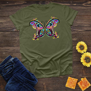 Colorful Butterfly Tee