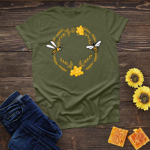 Bees in Circle Tee