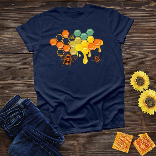 Bee Hive Honey Drop Color Tee