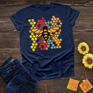 Colorful Bee Hive Tee