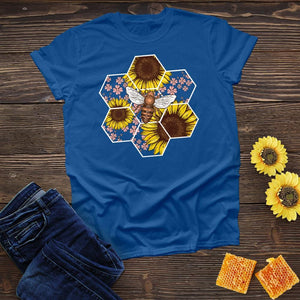 Bee Hive Flower Bee colored Tee