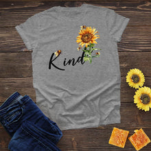 Load image into Gallery viewer, Bee Kind Sunflower Tee