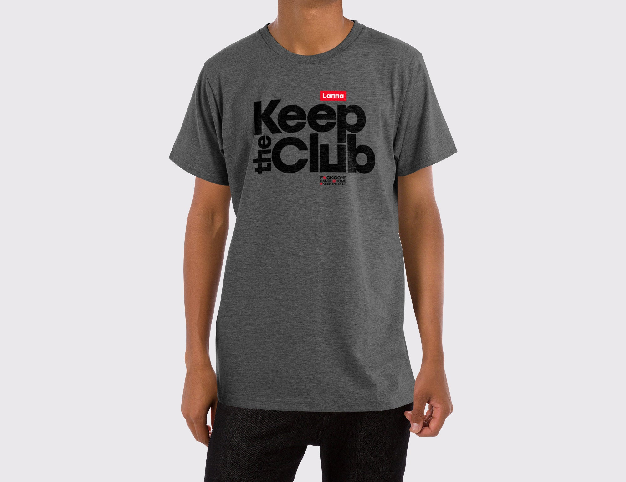 T-shirt 06: Keep the Club Gris