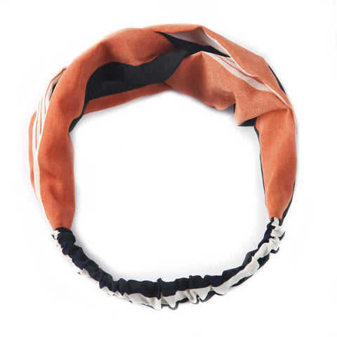 bandeau torsadé cheveux orange