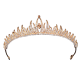 couronne mariage dorée strass