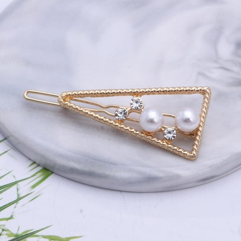 Barrette cheveux triangle
