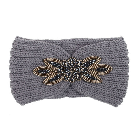 Bandeau cheveux maille strass